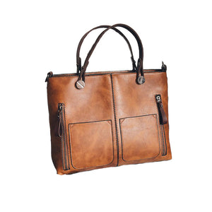 Faux Leather - Large Tote Bag