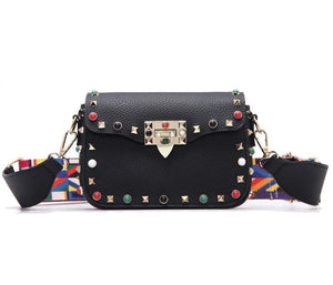 Faux Leather - Crossbody Rivet Bag - It's A Bags World
