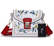 Faux Leather - Embroidered Floral Bag - It's A Bags World