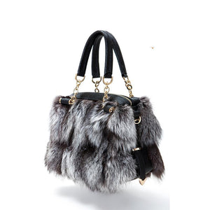 Real Fox Fur - Shoulder Bag - It's A Bags World - Fun Quirky Eccentric Bag