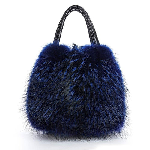 Real Fox Fur - Fluffy Shoulder Bag - It's A Bags World - Fun Quirky Eccentric Bag