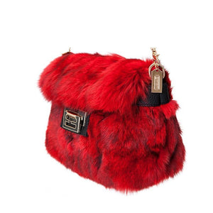 Real Fox Fur Bag - Chain Bag - It's A Bags World - Fun Quirky Eccentric Bag