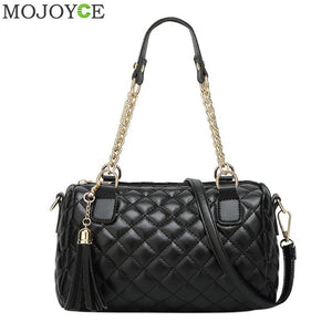 Faux Leather Crossbody Chain Quilted Bag - It's A Bags World - Fun Quirky Eccentric Bag