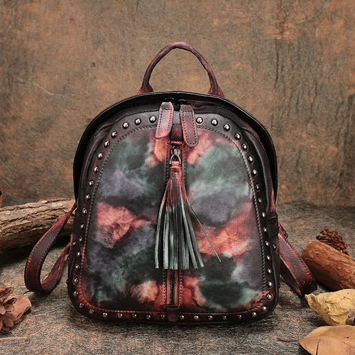 Genuine Leather - Retro Backpack - It's A Bags World - Fun Quirky Eccentric Bag