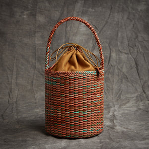 Genuine Leather - Woven Basket Bag - It's A Bags World - Fun Quirky Eccentric Bag