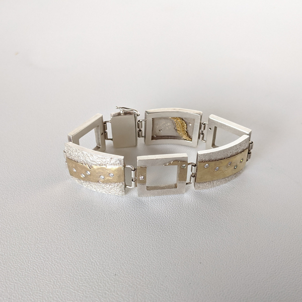 Leigh's Custom Diamond, Gold and Silver Bracelet | Sarah Muse | Virginia Made | Best of Virginia