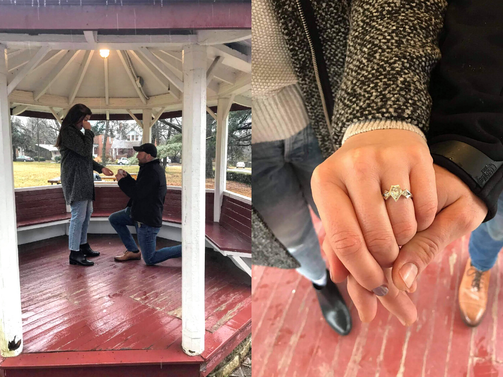 Max's Proposal to Julia with her stellar bespoke engagement ring.