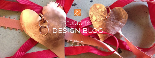 Studio 12 Design Blog-Of Life and Creativity-Sarah Ek Muse- Jeweler- Designer-Metalsmith-Copper Hearts
