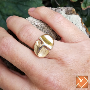 "14K Yellow Gold ""Beetle"" Ring"