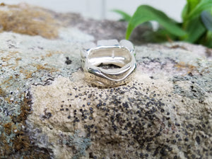 "One-of-a-Kind, Sterling Silver ""Channel"" Ring- SOLD"