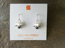 Sterling Silver Bone and Pearl Earring- Dangle
