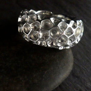 "One-of-a-Kind Sterling Silver ""Coral"" Ring"