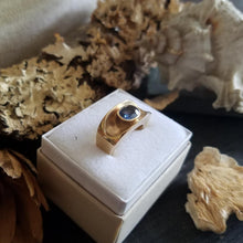 "14K Yellow Gold and Sapphire ""Valley"" Ring"