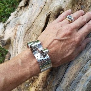 """Ebb & Flow"" Hand Formed Sterling Silver Cuff Bracelet"