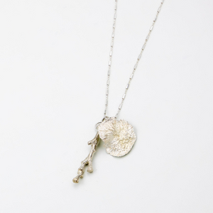 Add-a-Bone Necklace- Sterling Silver (Stick & Lichen)