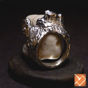 "One-of-a-Kind Sterling Silver ""Water Knot"" Ring"