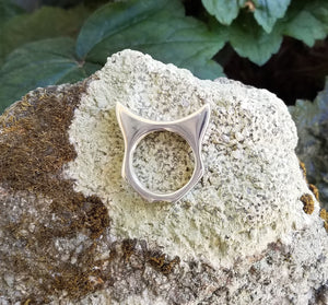Handcrafted PussyHat Ring in Sterling Silver