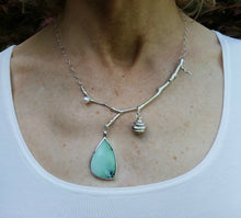 Turquoise-Sterling Silver-Cultured Pearl-Beehive Necklace