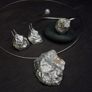 """Virginia Oyster Collection"" Set in Sterling Silver"
