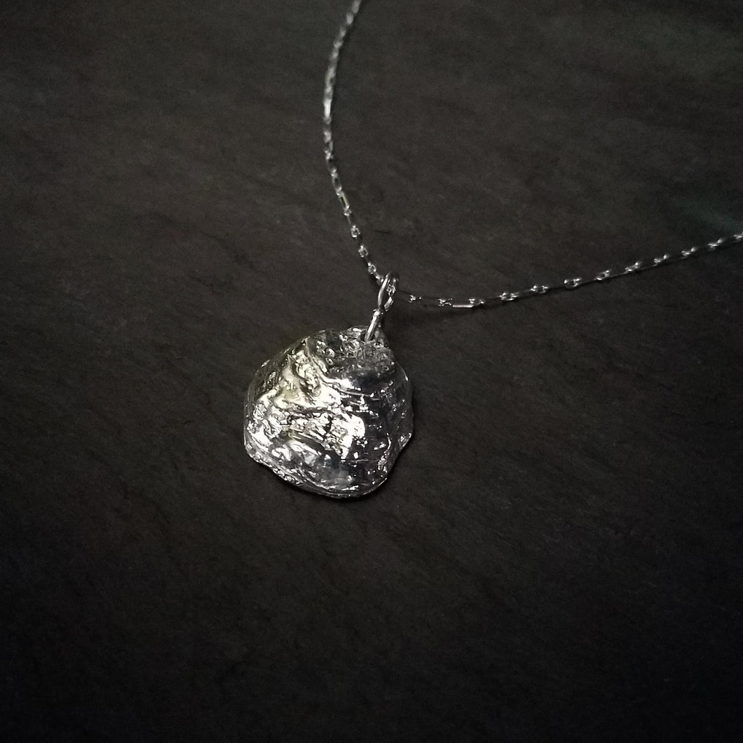 Virginia Oyster Pendant in Sterling Silver