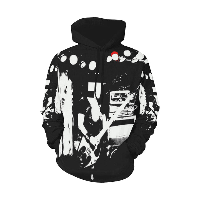 Rockstars & Guitars PullOver ~ All Over Print Hoodie for Men