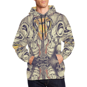 LIMITED EDITION: ETERNAL OF KILLA BEEZ: (STICK'EM UP MF) All Over Print Hoodie for Men/Large Size (USA Size)
