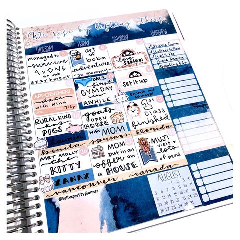How to Create a Monthly Memory Spread in your Erin Condren Planner