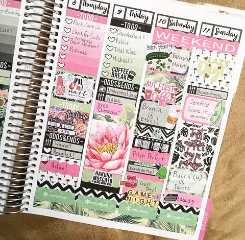 For the second half of my week I decided to dip my toe in the plan as I go style to do some memory planning for my actual vacation.