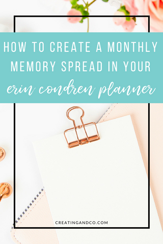 When I first started planning, I had no idea how to utilize my monthly spreads. But finally, three years later, I feel like I've found the right way for me to use my monthly spreads and that's memory planning! #memoryplanning #planners #erincondren