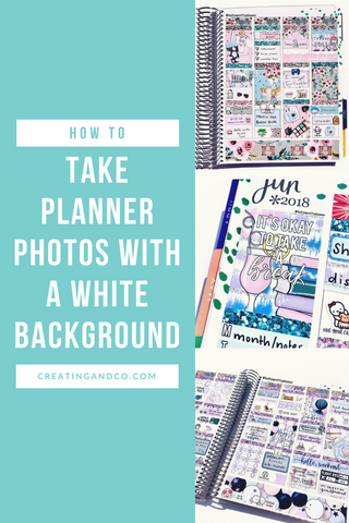 There are a million ways to style your planner Instagram: wood backgrounds, marble backgrounds, white backgrounds, or even no background in particular at all! All these themes are beautiful and none is better than the rest. But, if you like the clean and bright look, a white background might be for you! #photographytips #plannerhacks