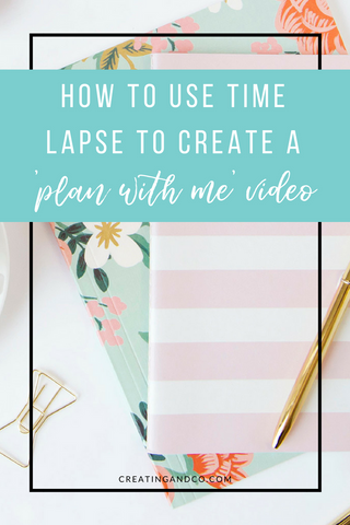 If you're looking to share your planning with the world, one way to do that is to create a time lapse video. Check out this short tutorial about how to create a time lapse video of your planning session! #planwithme #planners