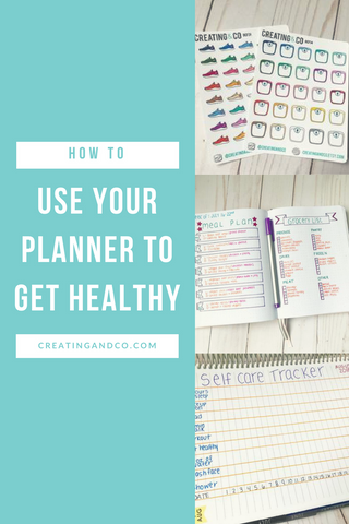 My planner use has evolved over time and now I utilize decorative planning with functionality mixed in. Recently, I've started using it as a tool to help me get healthy! #selfcare #mealplanning #fitnesstracker