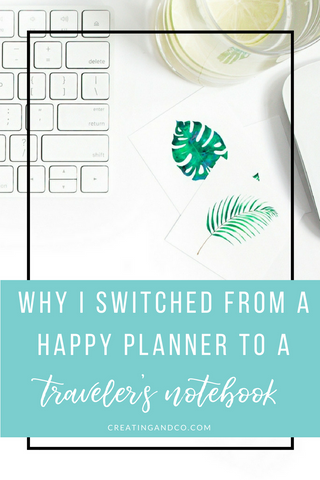 I began my creative planning journey about two years ago when I found a Happy Planner on Amazon and it worked well for me for about a year and a half. But then a few friends pulled me down the Traveler's Notebook rabbit hole and I haven't looked back! #travelersnotebook #creativeplanning