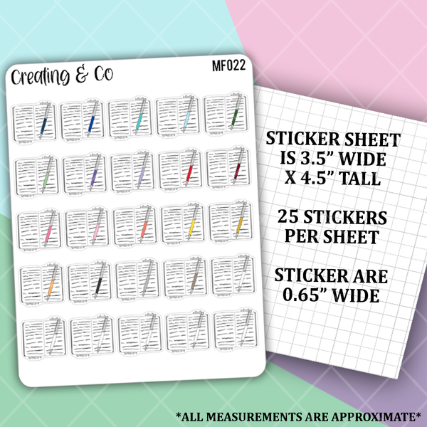 Journal Functional Stickers  - MF022