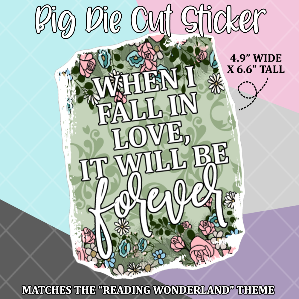 "Historic Romance Large Die Cut Sticker / Bullet Journal ""Cover""  - BC273"