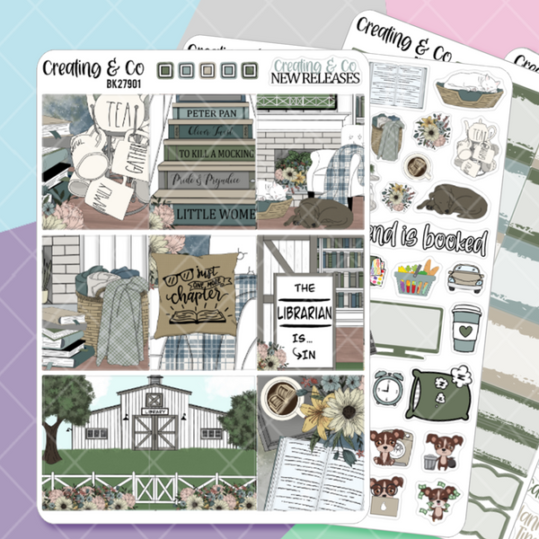 Farmhouse Library Weekly Planner Kit  - BK279