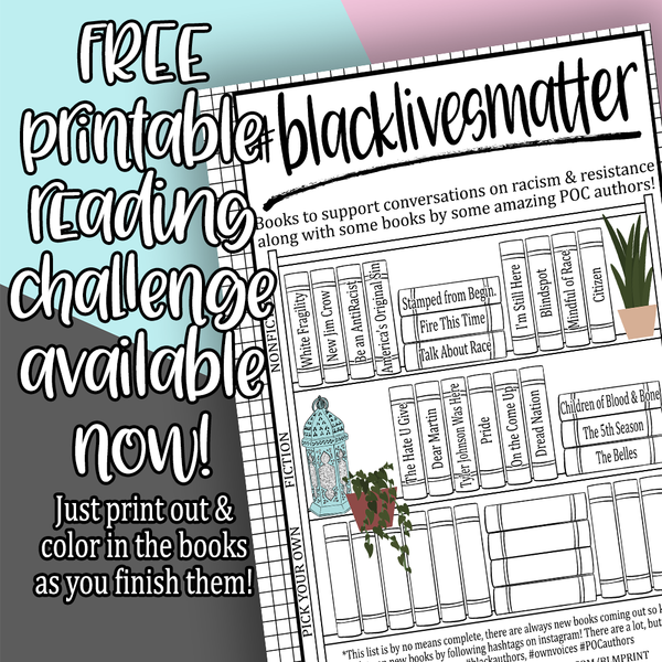 #BLACKLIVESMATTER FREE Printable Reading Challenge Printable Stickers