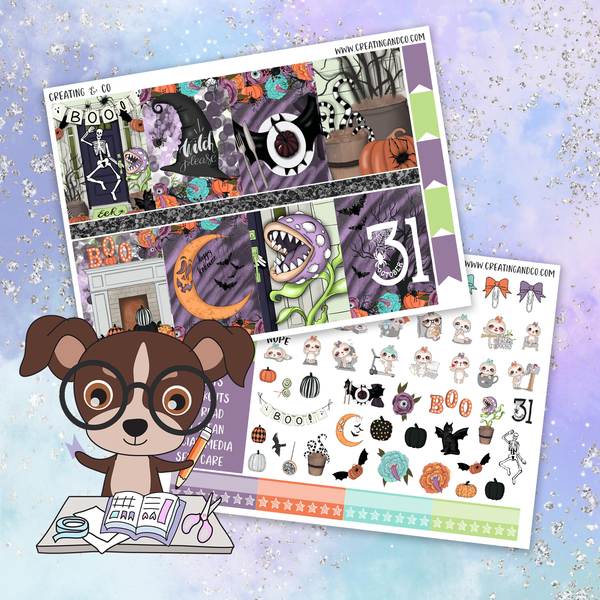Boo Printable Weekly Planner Stickers