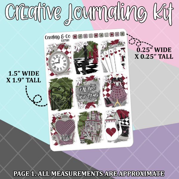 Queen of Hearts Creative Journaling and Planning Kit - CJ275