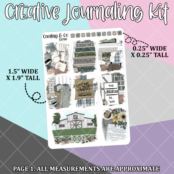 Farmhouse Library  Creative Journaling and Planning Kit - CJ279