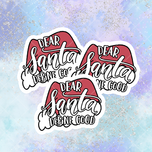 Dear Santa, Define Good Printable Die Cut