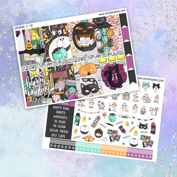 Happy Haunting Printable Weekly Planner Stickers