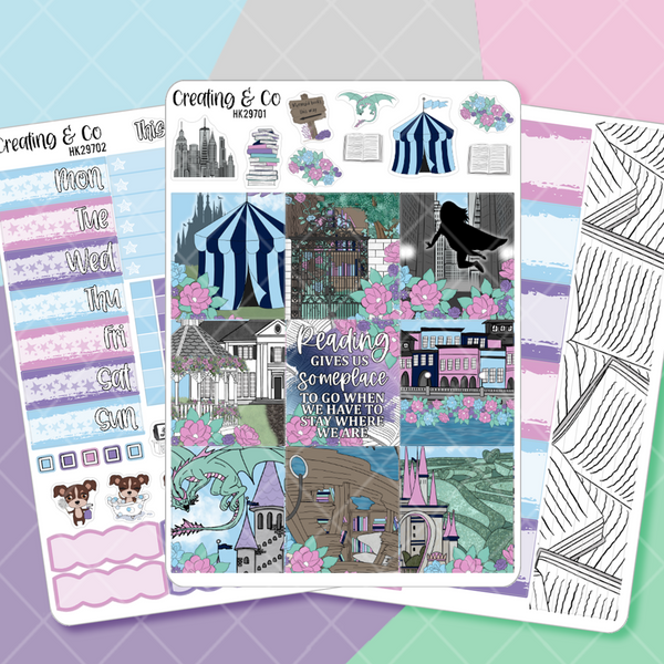 Fantasy Worlds HORIZONTAL Weekly Planner Kit  - HK297