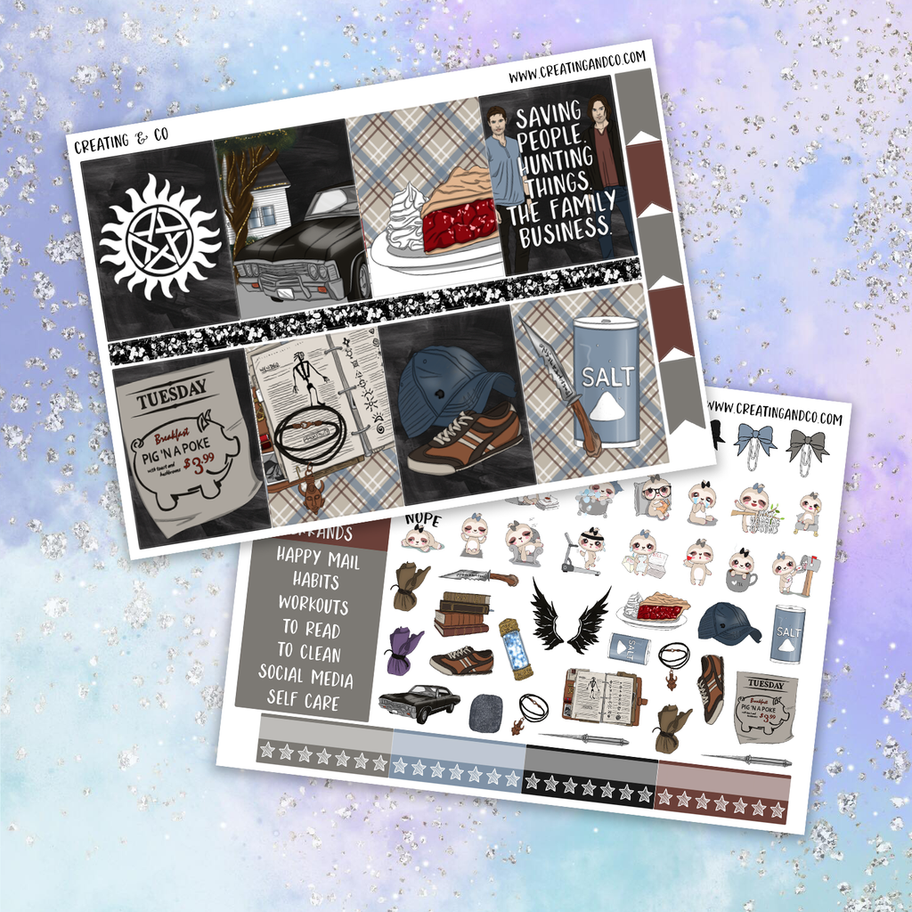 Hunter Printable Weekly Planner Stickers