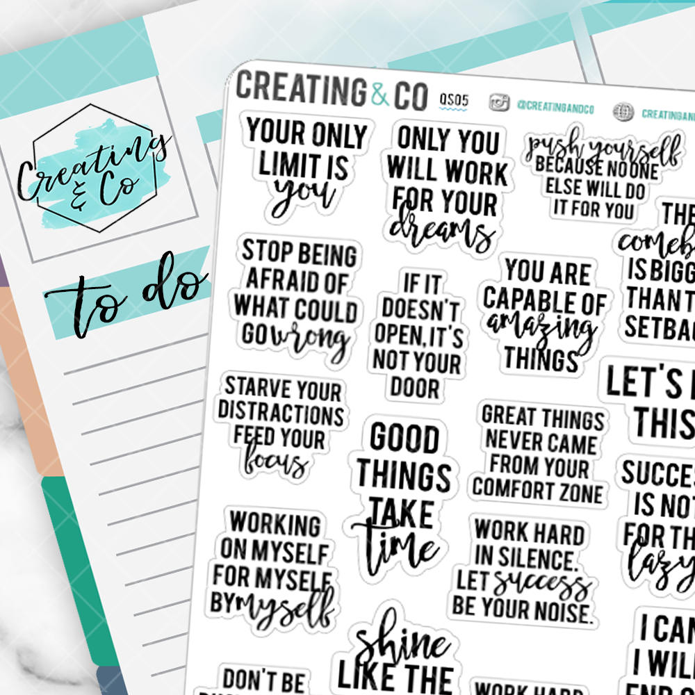 Work Hard Inspirational Quote Sampler - QS05