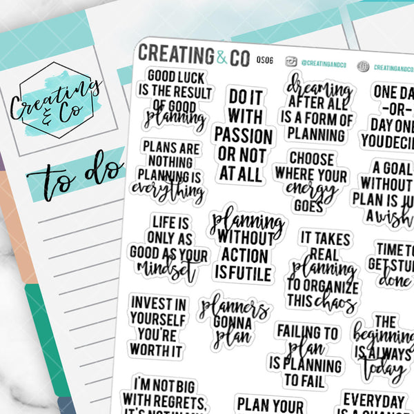 Planner Girl Inspirational Quote Sampler - QS06