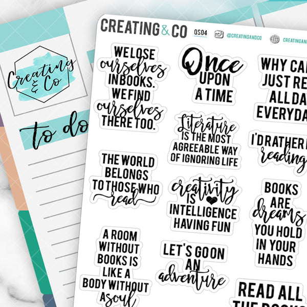 Reading Quote Sticker Set - QS04