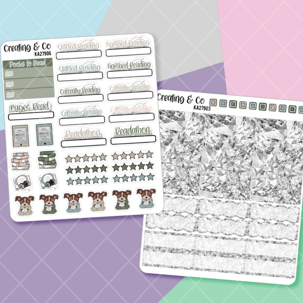 Farmhouse Library  Planner Kit Add Ons  - KA279