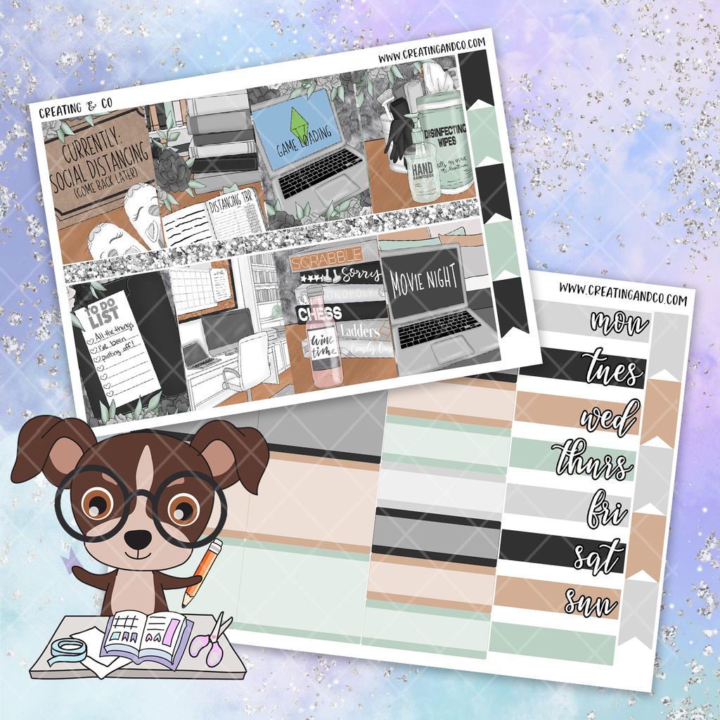 Neutral Homebound Printable Weekly Planner Stickers