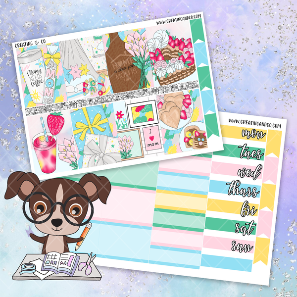 Mother's Day Printable Weekly Planner Stickers